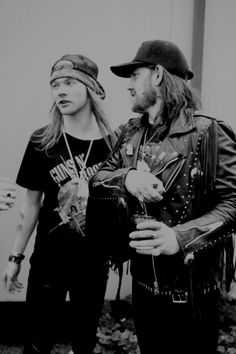 Young Lemmy | Marky Deivy, Axl Rose e Lemmy Kilmister.