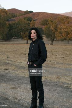 Michael Jackson (age 43) in 2001 at his Neverland Ranch.