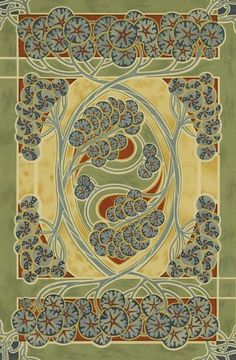 Art Nouveau Poster, Poster Art, Ecole Art, Flower Ornaments, Art Graphique, Textures Patterns, Creative Art, Carpets, Playing Cards