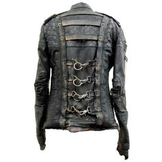 Leather post apocalyptic fashion junker designs ❤ liked on Polyvore featuring…