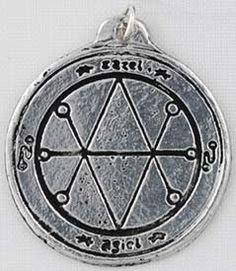 This talisman will protect its bearer against all forms of evil: hexing& curses& bad fortune and black magic. Set with a sigil of protection on each side& this diameter amulet comes with a satin cord. Pagan Witch, Wiccan, Wicca Witchcraft, Witches, Protection Sigils, Magic Symbols, Lucky Symbols, Sigil Magic, Traditional Witchcraft