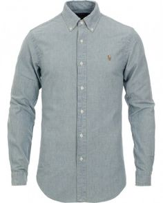 89e6d7963b Polo Ralph Lauren Slim Fit Chambray Shirt Washed i gruppen Skjortor hos  Care of Carl