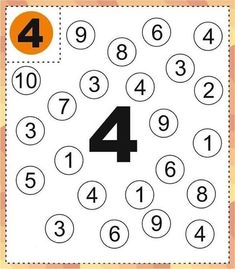 Kindergarten Math Worksheets, Preschool Learning Activities, Preschool Lessons, Preschool Math, Math Lessons, Kindergarten Coloring Pages, Numbers Kindergarten, Numbers Preschool, All About Me Preschool