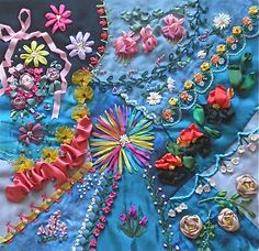 CRAZY QUILTING INTERNATIONAL: Silk Ribbon Embroidery (SRE) Traditional Round Robbin 2010-2011