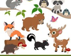 Items similar to Premium Woodland Animal Clip Art, Woodland Animal Vectors - Woodland Vectors, Woodland Clipart, Forest Animals, Forest Animal Clipart on Etsy Clipart Baby, Bear Clipart, Hirsch Silhouette, Deer Silhouette, Owl Clip Art, Baby Clip Art, Deer Design, Animal Design, Forest Animals