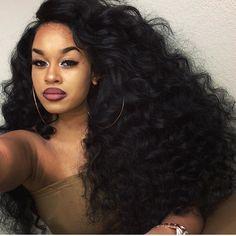 natual peruvian hair deep wave 3 bundles with lace frontal,factory direct sale 100 human hair extensions Human Hair Lace Wigs, 100 Human Hair, Curly Wigs, Love Hair, Big Hair, Weave Hairstyles, Pretty Hairstyles, Protective Hairstyles, Curly Lace Frontal