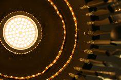 LED Kugel Kerze Rustic D:7,5cm gold Timer
