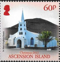 Stamp: St. Mary's Anglican church (Ascension Island) (Christmas 2013) Mi:AC 1236