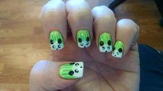Pandas,  nails by Dary of Dary's Nail Spot, Tacoma WA