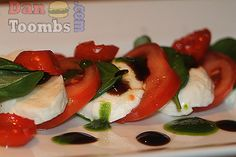 Salad Caprese--With all that red, white and green, this looks delicious!