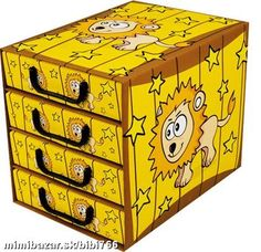 Krabica 4 šuplíková PSÍKY