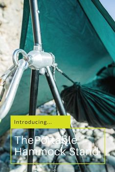 A portable hammock stand under 3lbs.  Yes please!  http://blog.hammocktown.com/the-lightest-hammock-stand/