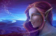 Moonshine by Pistefix.deviantart.com on @DeviantArt  #digitalpainting #digitalart #fantasy #portrait #elf