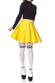 Dani's Choice Flouncy High Waist A-line Full Flared Circle Swing Dance Party Casual Skater Short Mini Skirt Work Skirts, Mini Skirts, Skater Skirts, All Fashion, Womens Fashion, Size Clothing, Cheer Skirts, Work Wear, High Waisted Skirt