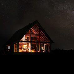 Danish designer Jens Risom's prefab A-frame house on block island
