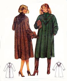 1980s Swing Coat Vintage Sewing Pattern by allthepreciousthings, $8.50