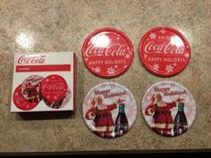 Coca Cola Coaster Set Of 4 Happy Holidays . Condition is Used. for Sale in El Dorado, KS Coca Cola Christmas, Coaster Set, Happy Holidays, Free Apps, Conditioner, Success, Collection, El Dorado, Beverages