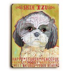Shih Tzu Wood Sign #ShihTzu