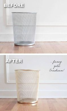 #26. Trashcan makeover using spray paint! -- 29 Cool Spray Paint Ideas That Will Save You A Ton Of Money