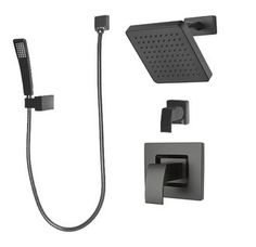 View the Pfister B89-7DF Kenzo Shower System with Valve Trim, Shower Head, Hand Shower and Diverter Valve at FaucetDirect.com.