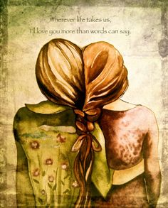sisters art print gift idea with quote on by claudiatremblay, $23.00