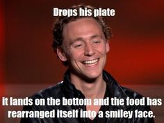 Drops his plate