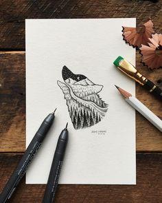 #wolf #art #illustration SAM LARSON
