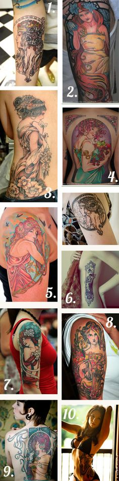 art nouveau tattoos!