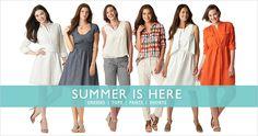 Summer dresses, tops, and Capri Pants from eShakti.com
