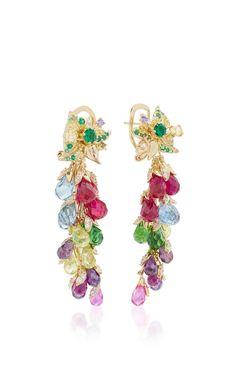 Rainbow Coralbell Earrings  by ANABELA CHAN for Preorder on Moda Operandi