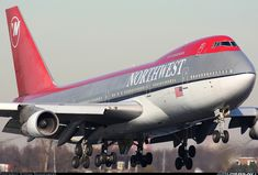 Boeing 747-251B Northwest arriving in Amsterdam   N623US  Feb 2008  Could have been me! LSP