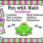 Smartboard+Fun+with+Math:++Counting,+Addition,+Subtraction,+Word+Problems + This+unit+includes+60+slides+to+provide+your+kindergartens+and+first+gr...