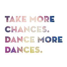 Yes always more dancing