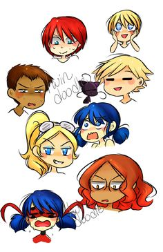 A bunch of small doodles practicing expressions. These were a bunch of warm-ups.
