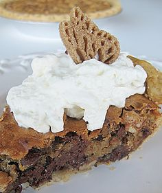 Nestle Tollhouse Pie Recipe, with Homemade Whipped Creme of Course :) Heavenly !!