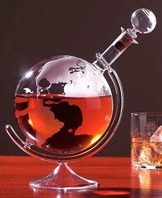 Etched Globe Decanter - #unique #wine #gift