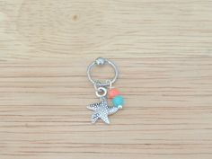 Starfish Captive Bead Hoop; Cartilage Earring; Helix Earring; on Etsy, $10.00