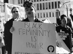 "(2 of 7) ""Black femininity is power""  On January 19, 2015, the Black queer community of Atlanta marched under the banner of #ReclaimHerDream to reclaim the radical legacy of all Black women in the Civil Rights Movement.  Later, marchers held a mock funeral service for all Black women, cis and trans, queer and straight....Because in the words of June Jordan: 'We are the ones we've been waiting for."" Photo credit: Lauren Soleil-Downer"