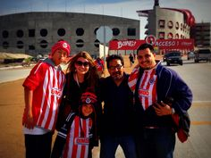 KIM TATE visits Estadio Caliente for Club Tijuana v. Chivas ...