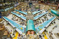 Assembly of a Boeing plane.