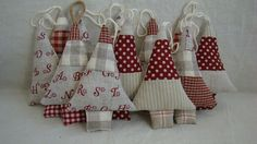 French Christmas tree ornaments -these would be so easy to make also...LOVE the vintage look.