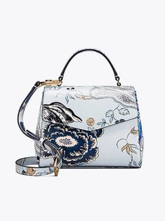 363222b7abf96 Tory Burch Robinson Floral Small Top-Handle Satchel Floral Bags