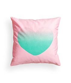 """French Vintage Accent Decorative Throw Pillow Cover 100% Cotton Throw Pillow Cover Cushion 16 X 16"""" Shiny Heart Cushion Cover http://www.amazon.com/dp/B00P6TFDHA/ref=cm_sw_r_pi_dp_H8gGvb0AB73V8"""
