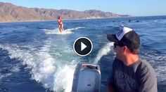 She's wakeboarding in the ocean suddenly pod of dolphins swim with her Wakeboarding, Sup Surf, Water Photography, Once In A Lifetime, Big Challenge, Funny Animal Pictures, Dolphins, Animals And Pets, Skiing
