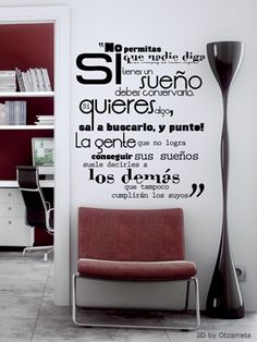 Vinilos,me encantan estas frases. Wall Sticker, Wall Decals, Motivation Wall, Happy House, Cafe Bar, Decoration, Office Decor, Ideal Home, Sweet Home