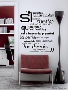 Vinilos,me encantan estas frases...