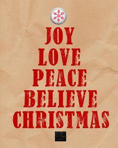 Christmas Word Art. Joy, Peace on Etsy, $5.99