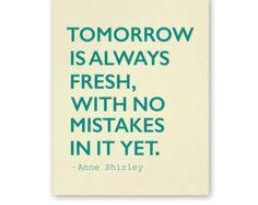 Tomorrow is Always Fresh