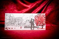 Invitatie nunta modern city sketch cod 5012