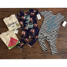 Fabulous Mail Day @avaelliott_mama // our SS15 Organic Cotton Watermelon & Lemons make Lemonade Tees are Restocked and available in our Shop! And how Perfect are those @rags_to_raches rompers. Need them both! #kateandjamesshop #watermelon #lemonsmakelemonade #SS15
